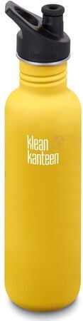 Klean Kanteen Classic Sports Cap Vattenflaska  800ml, Lemon Curry