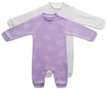 Tiny Treasure Maxime Jumpsuit  2-Pack, Orchid Bloom