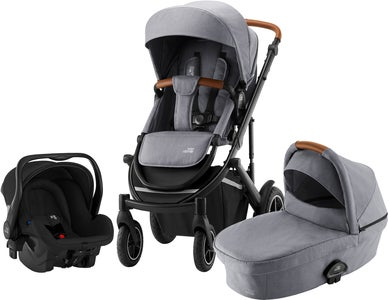 Britax Smile III Duovagn Inkl Primo Babyskydd, Frost Grey Brown