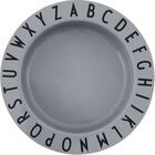 Design Letters Eat & Learn Djup Tallrik Tritan, Cool Grey