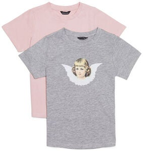 Luca & Lola Angel Topp 2-pack, Grey Melange
