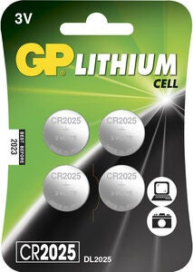 GP Batterier Knappcell Litium CR2032 4-pack