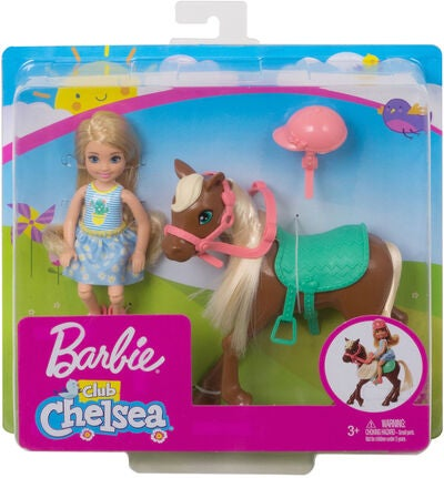 Barbie Club Chelsea Docka med Häst