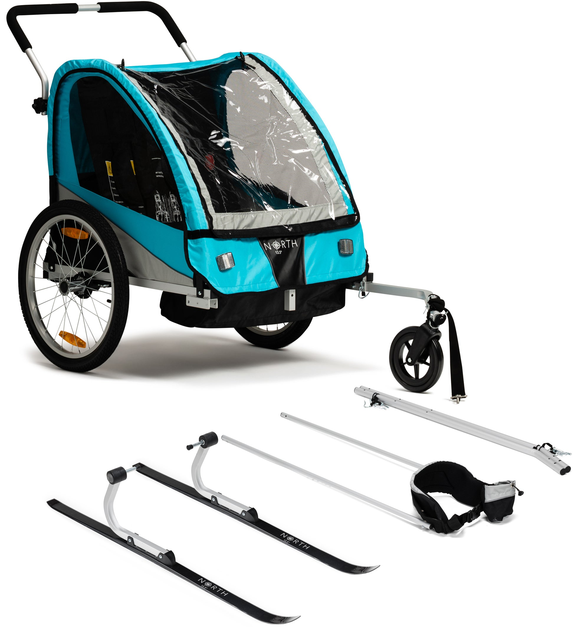 North 13.5 Roadster Cykelvagn, Blue Inkl. Skidset