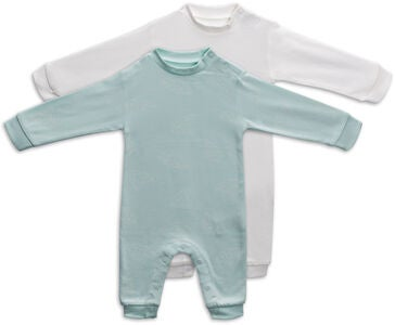 Tiny Treasure Maxime Jumpsuit  2-Pack, Opal Blue