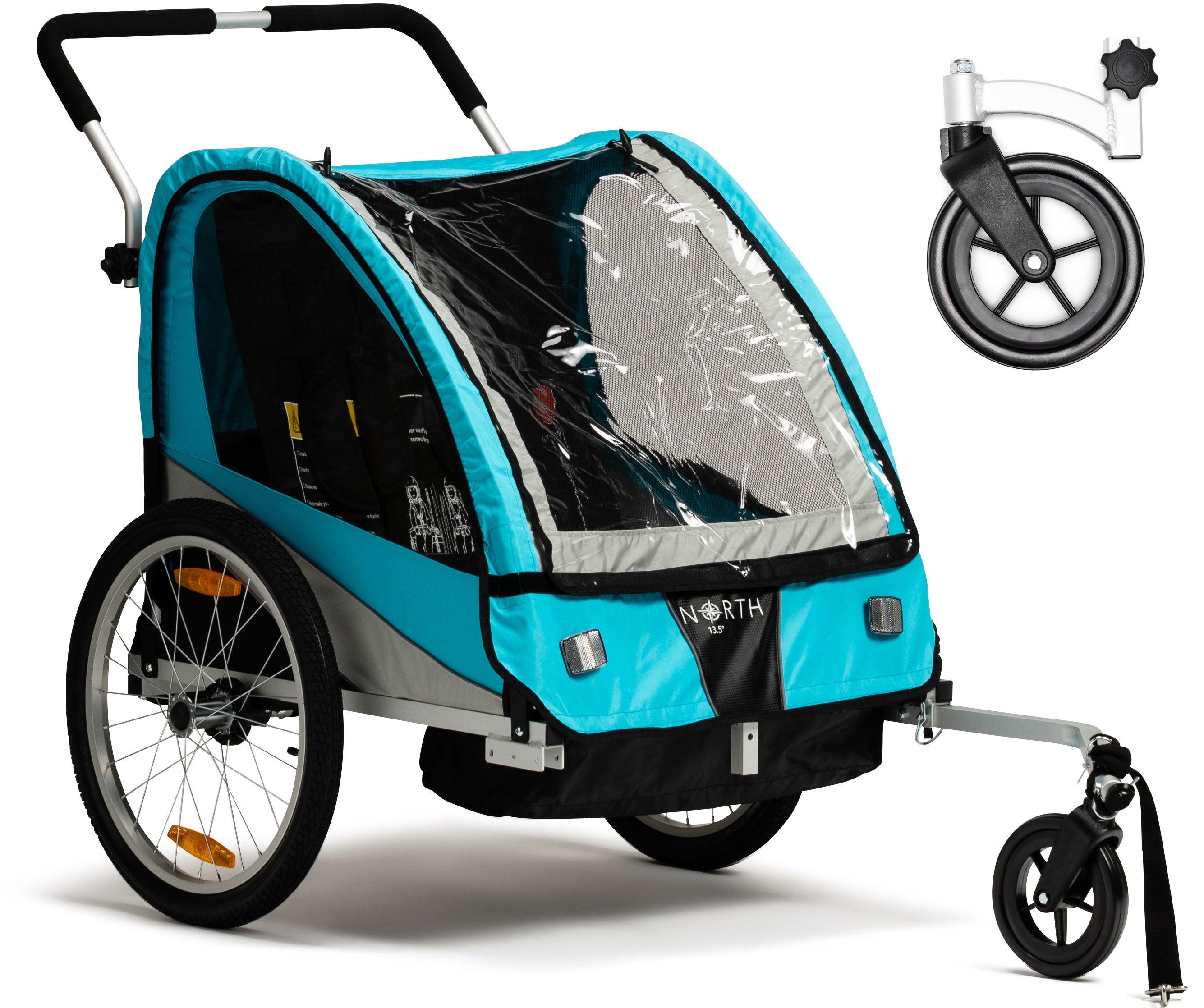 North 13.5 Roadster Cykelvagn Inkl. Promenadhjul, Blue
