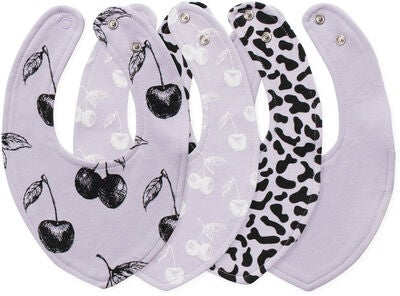 Tiny Treasure Sofia Bib 4-Pack, Purple