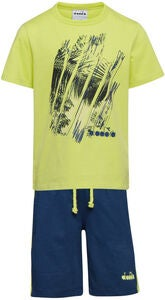 Diadora Set T-Shirt & Shorts, Wild Lime Green