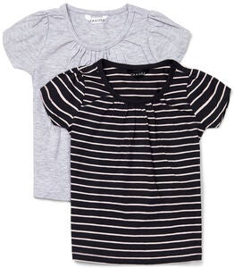 Luca & Lola Edda Topp 2-pack, Black/Stripes