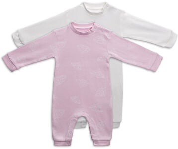 Tiny Treasure Maxime Jumpsuit  2-Pack, Chalk Pink
