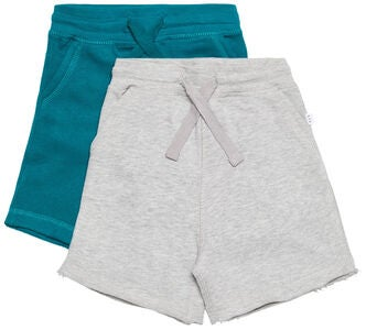 Luca & Lola Fabriano Shorts 2-pack, Grey Melange/Deep Lake