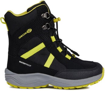 Geox New Alaska WPF Vinterkänga, Black/Lime