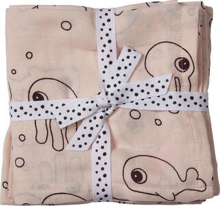 Done By Deer Swaddler Sea Friends 120x120 2-pack, Powder