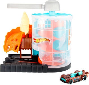Hot Wheels City Lekset Downtown Ice Cream Meltdown