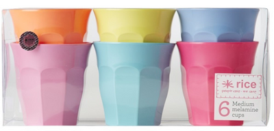 Rice Barnmugg Summer Medium 6-p, Pastell