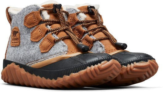 Sorel Youth Out N About Plus Känga, Quarry/Camel Brown