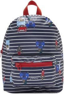 Tom Joule Adventure Ryggsäck, Navy Cream Stripe Animal
