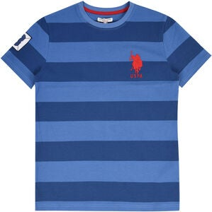 U.S. Polo Assn. Pique Stripe T-Shirt, Delft