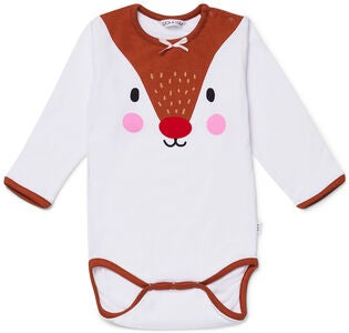 Luca & Lola Baby Body Oh Deer, White