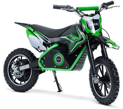 Impulse Elektrisk Dirt Bike 500 W, Grön