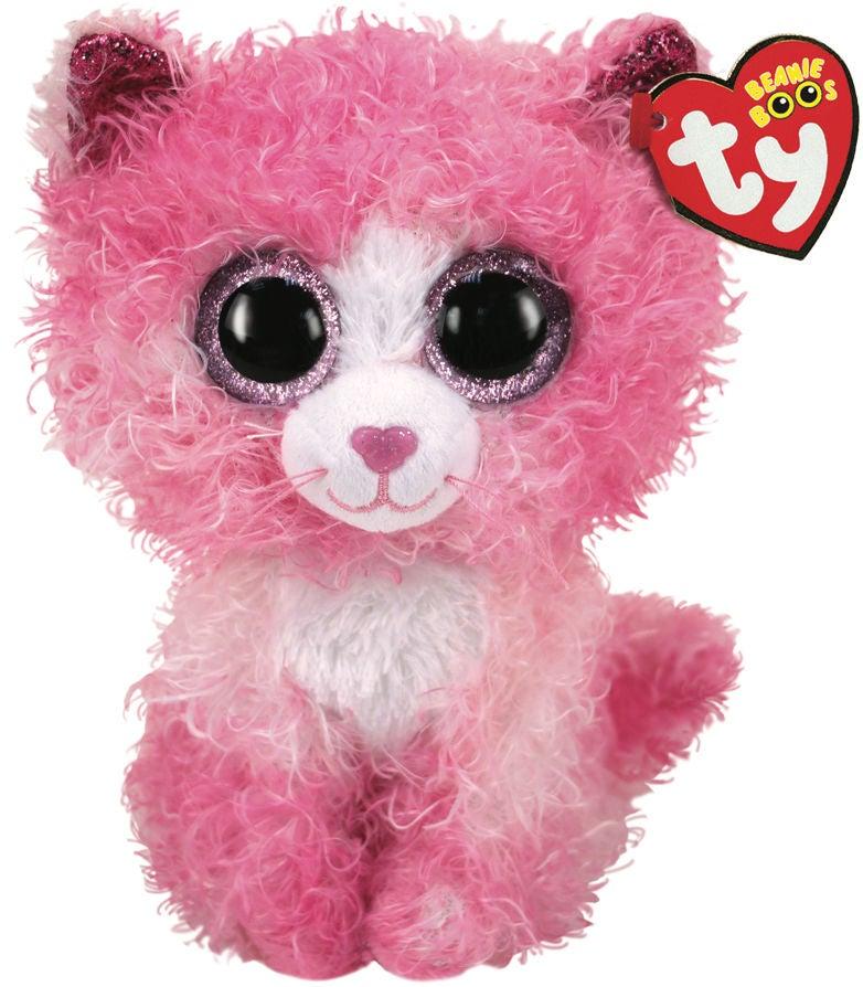 TY Gosedjur Reagan Katt 15,5 cm, Rosa