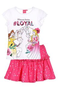 Disney Princess T-Shirt & Kjol, White