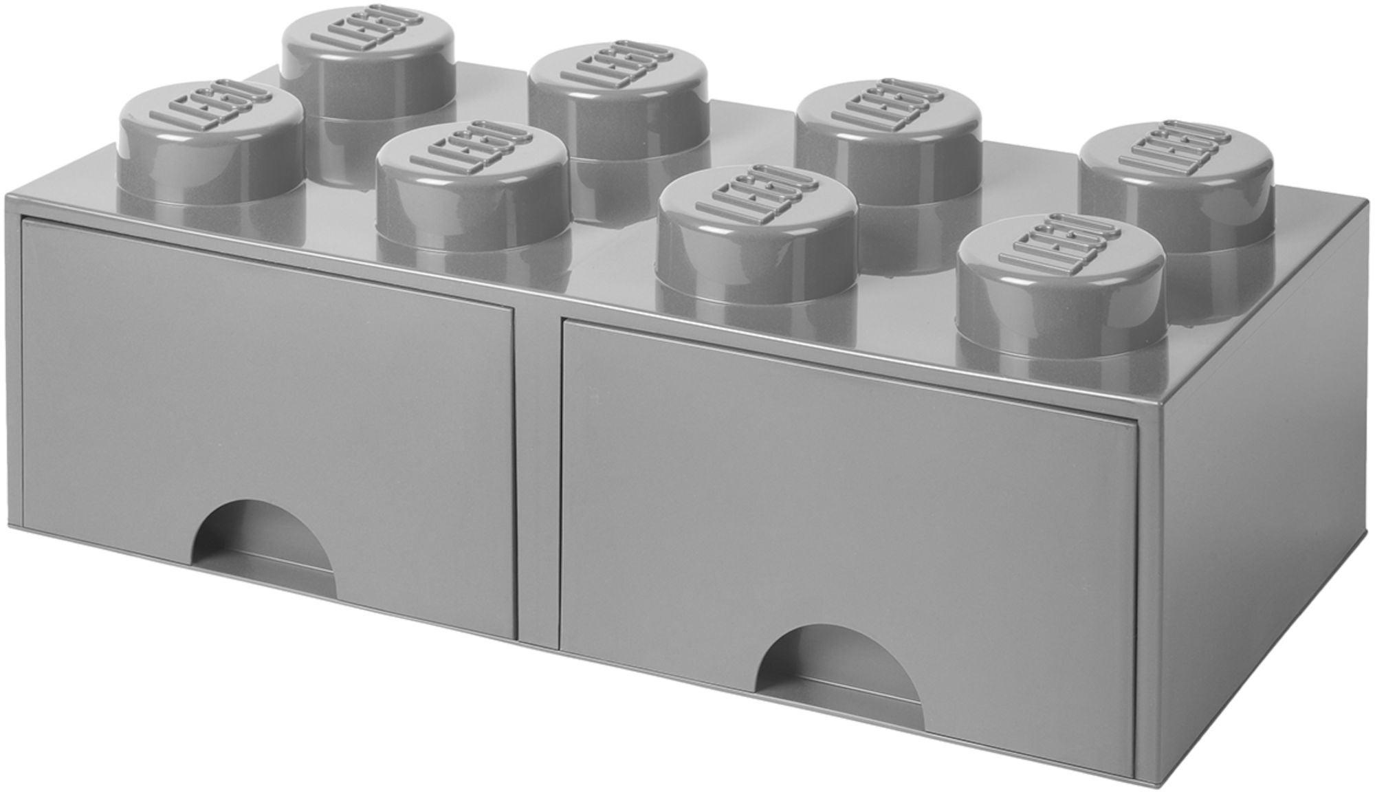 LEGO Förvaring med låda 8, Grå