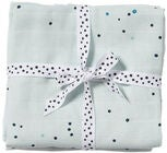 Done By Deer Muslinfilt Dreamy Dots 2-pack, Blue