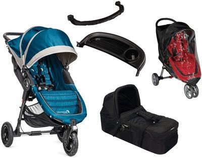 Baby Jogger City Mini GT med Funktionspaket, StålblåGrå