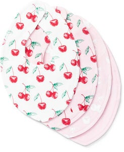 Tiny Treasure Sofia Bib 4-Pack, Pink