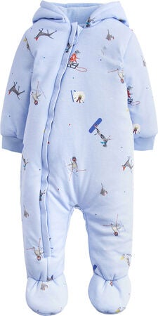 Tom Joule Wadded Jumpsuit, Sky Blue Ski Pup