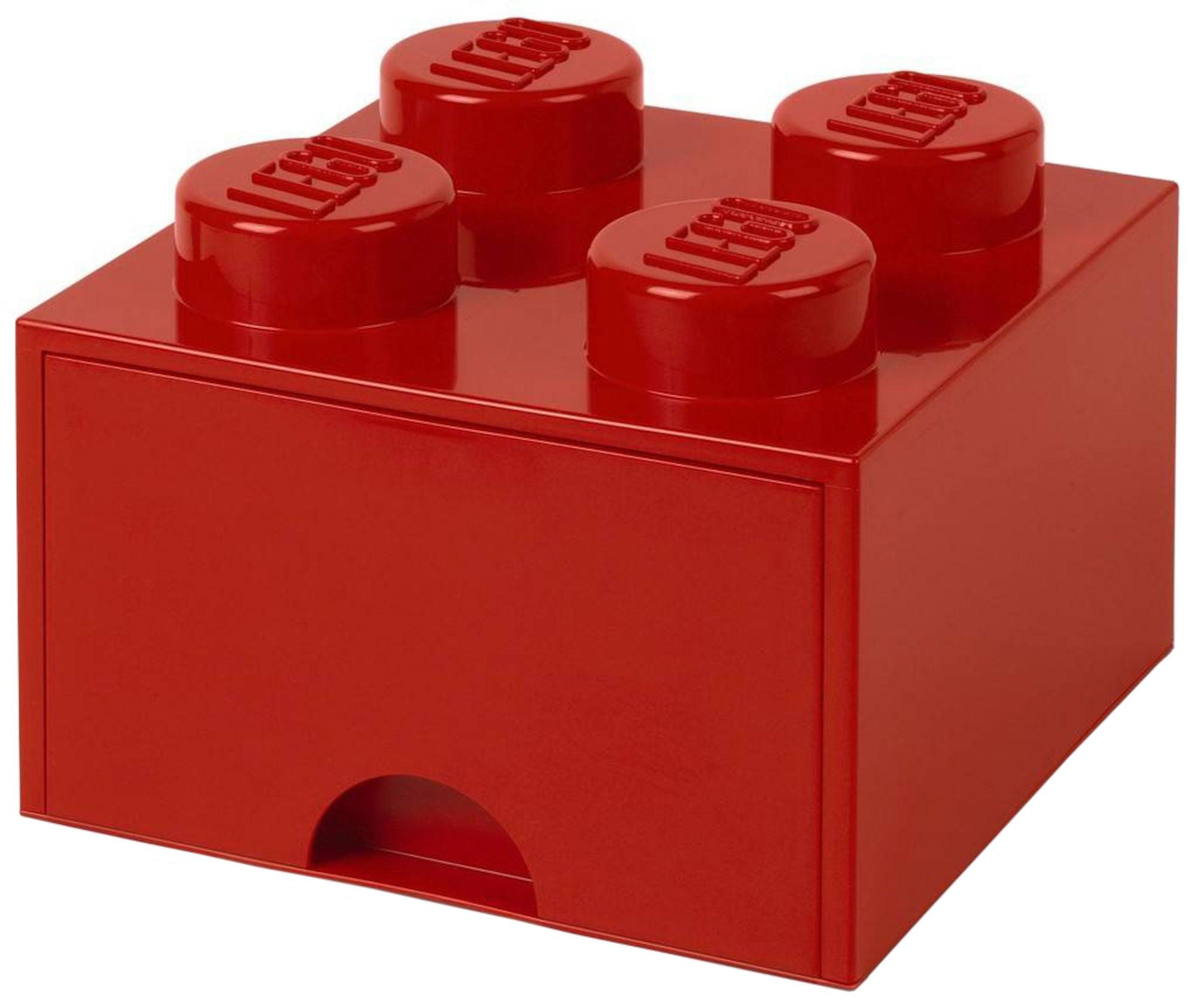 LEGO Förvaring med låda 4, Röd