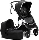 Beemoo Maxi Travel Lux 2 Duovagn, Svart/Silver