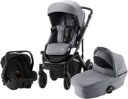 Britax Smile III Duovagn Inkl Primo Babyskydd, Frost Grey Black