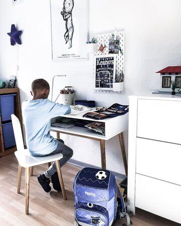 Alice & Fox Skrivbord med Förvaring och Stol, VitTrä