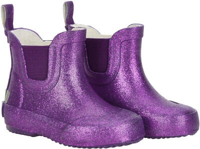 CeLaVi Wellies Short Glitter Gummistövel, Royal Purple