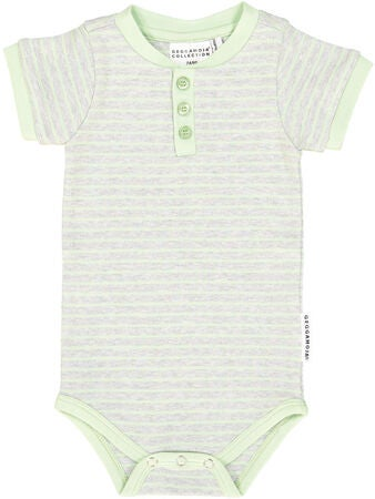 Geggamoja Body, Grey Melange/Mint