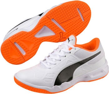 Puma Tenaz Fotbollsskor JR, White/Orange