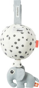 Done By Deer Speldosa Ballong Happy Dots, White/Black