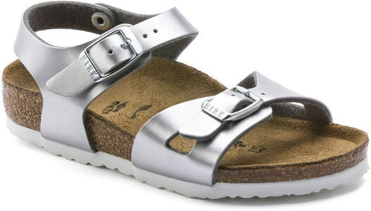 Birkenstock Rio Kids Sandal, Electric Metallic Silver