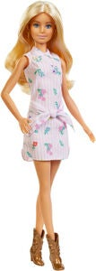 Barbie Fashionistas Docka 119 Pink Dress and Boots