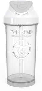 Twistshake Sugrörsmugg 360ml, Vit