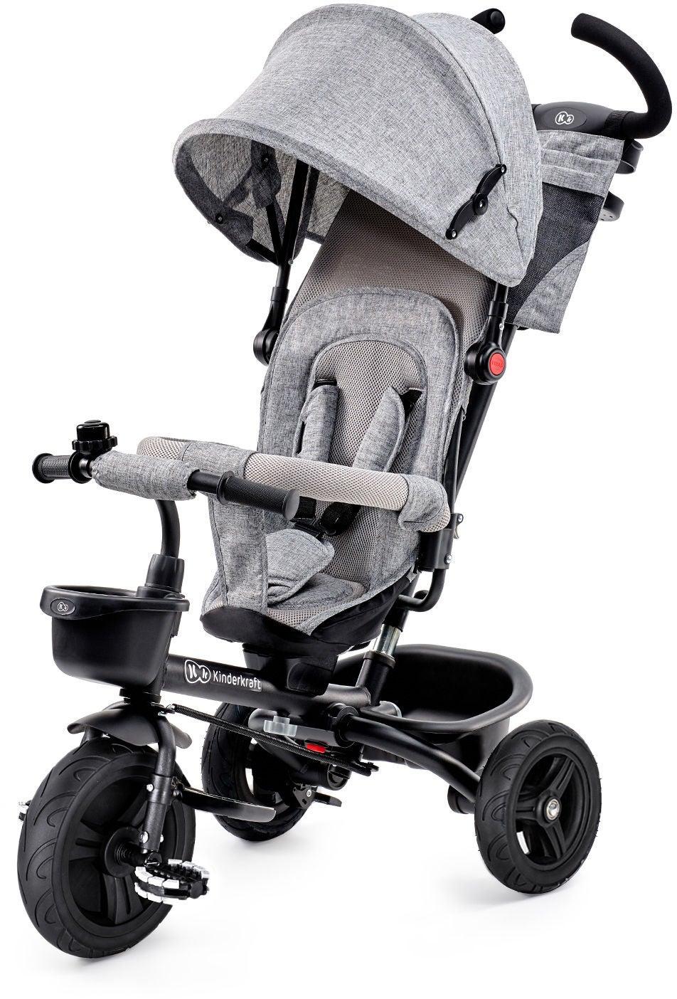 Kinderkraft Trehjuling AVEO, Grå