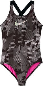 Nike Swim Optic Camo Crossback Baddräkt, Black