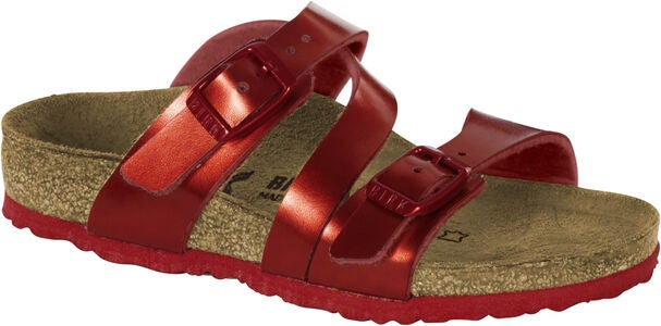 Birkenstock Salina Kids Sandal, Metallic Red