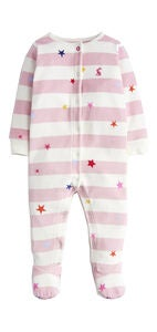 Tom Joule Velour Jumpsuit, Dusk Pink Star Stripe