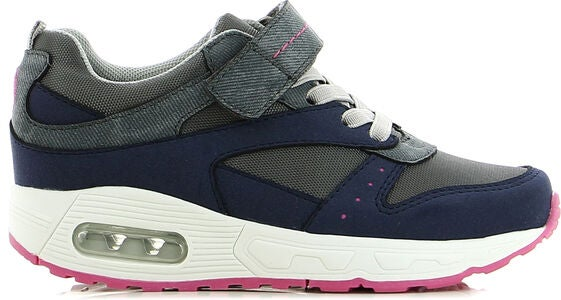 Little Champs Streets Sneakers, Dark Grey/Fuchsia