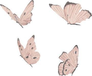That's Mine Wallsticker Butterflies, Dusty Rose