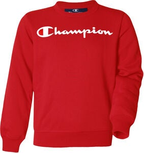 Champion Kids Crewneck Tröja, True Red