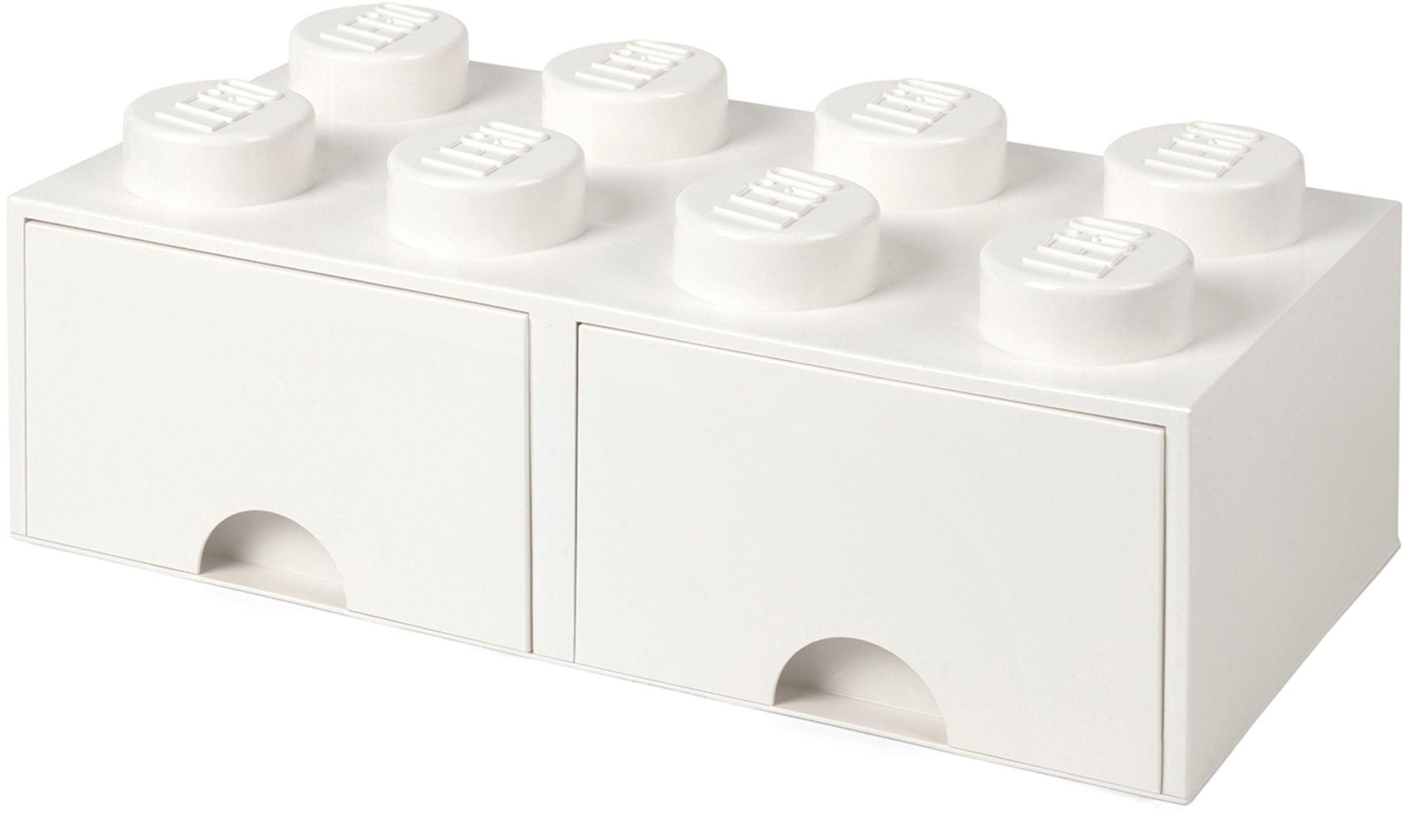 LEGO Förvaring med låda 8, Vit